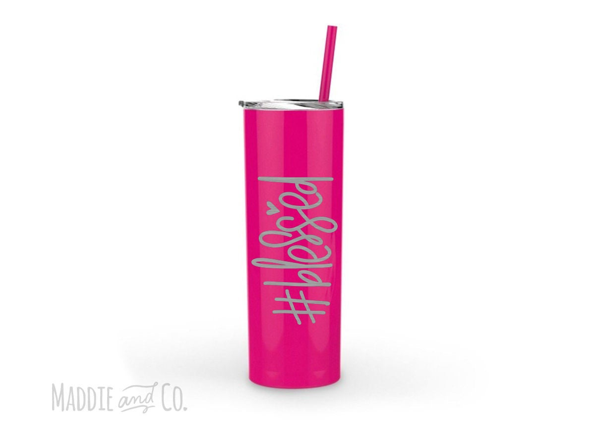 Blessed Tumbler-Tumblers + Mugs-Maddie & Co.