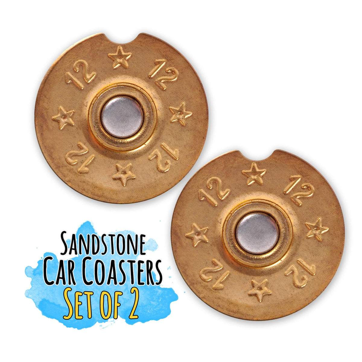12 Gauge Car Coaster-Car Accessories-Maddie & Co.
