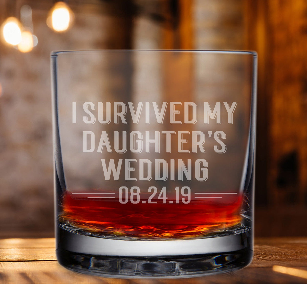 I Survived My Grandson's Wedding Whiskey Glass-Whiskey Glasses + Wine-Maddie & Co.