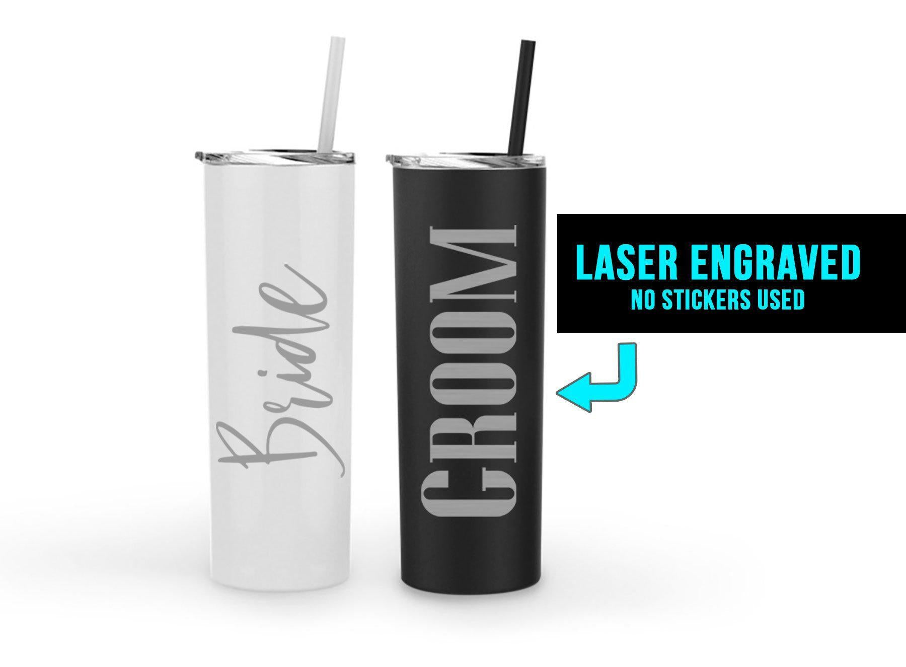 Bride and Groom Tumbler set-Wedding-Maddie & Co.