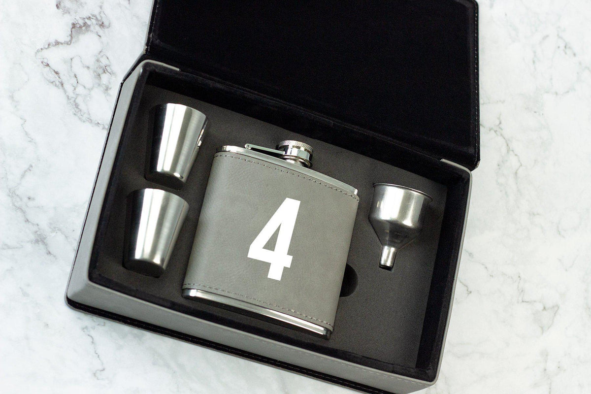 Initial Wedding Party Flask-Flask-Maddie & Co.
