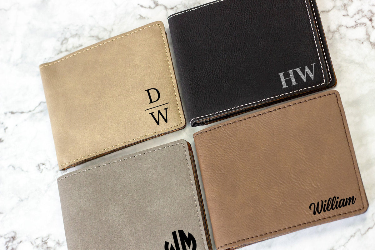 Engraved Men's Wallet-Wallets-Maddie & Co.