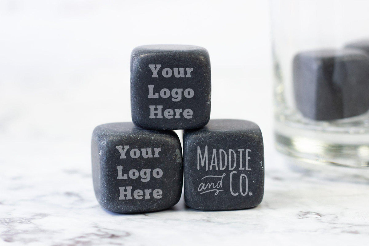 Personalized Whiskey Stones-Whiskey Glasses + Wine-Maddie & Co.