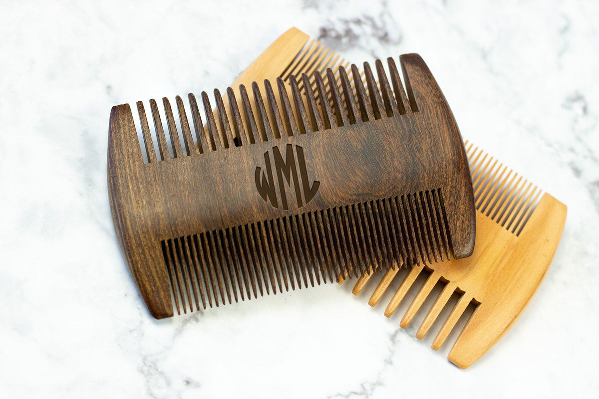 Personalized Beard Comb-Groomsmen Gift-Maddie & Co.