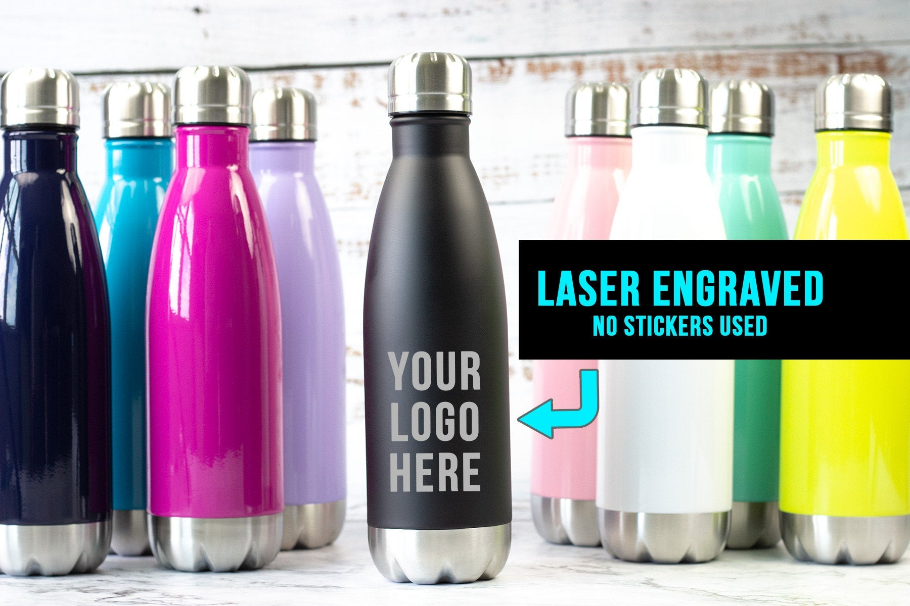 Personalized Water Bottle-Tumblers + Mugs-Maddie & Co.
