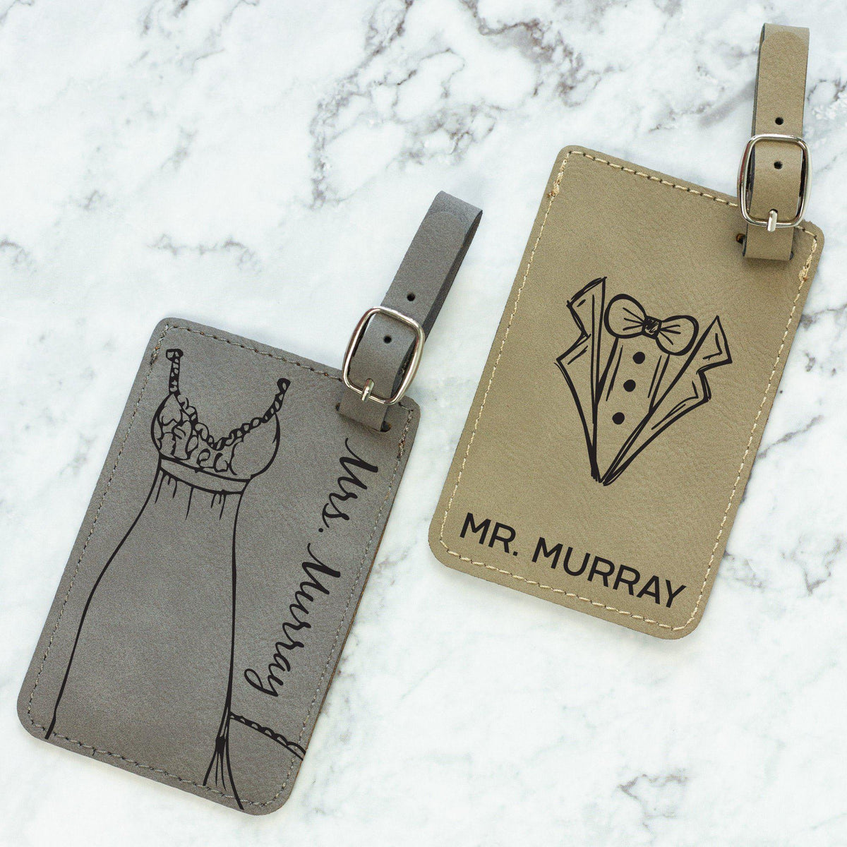 Mr. and Mrs. Luggage Tags-Luggage Tags-Maddie & Co.