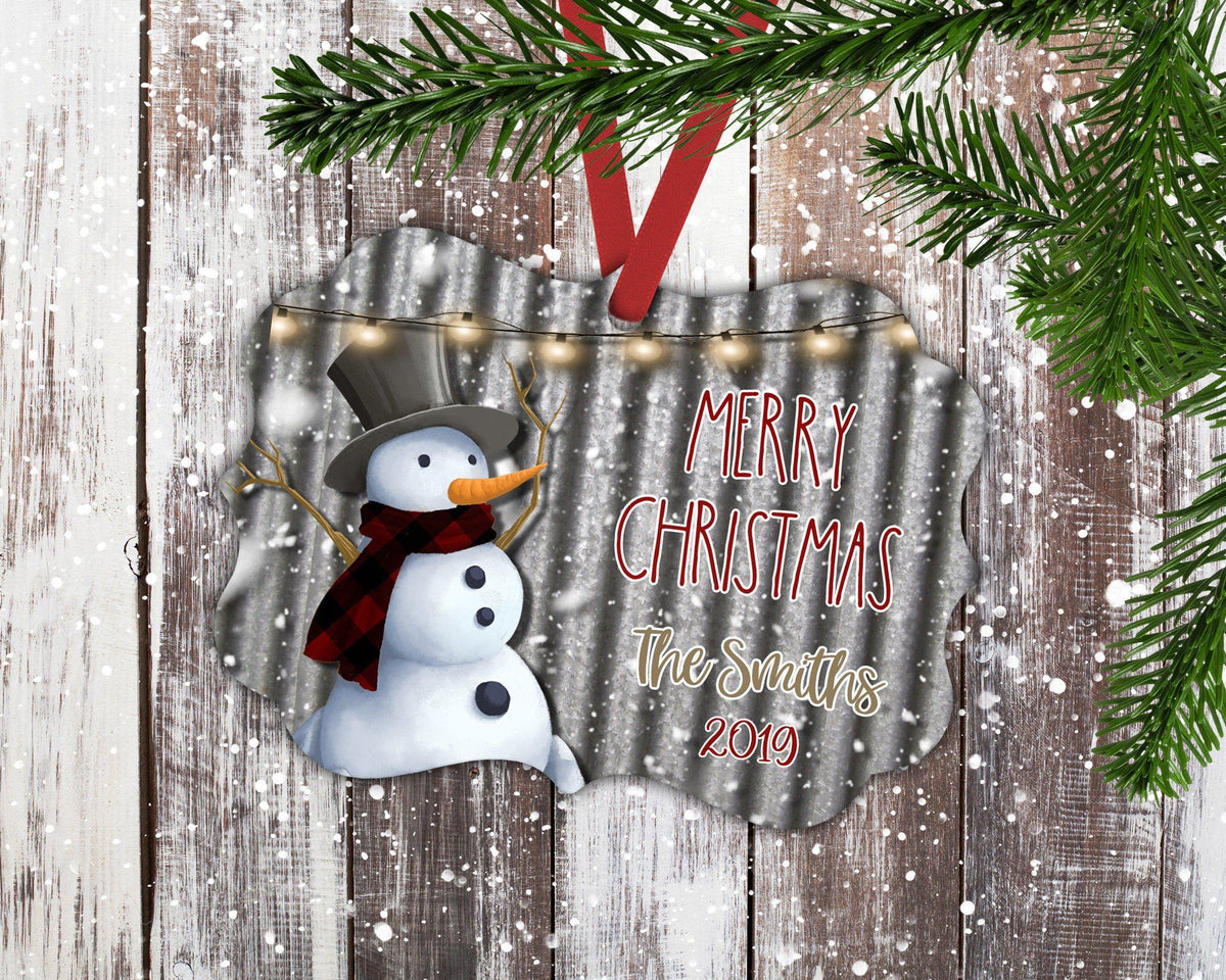 Snowman Christmas Ornament-Ornaments-Maddie & Co.