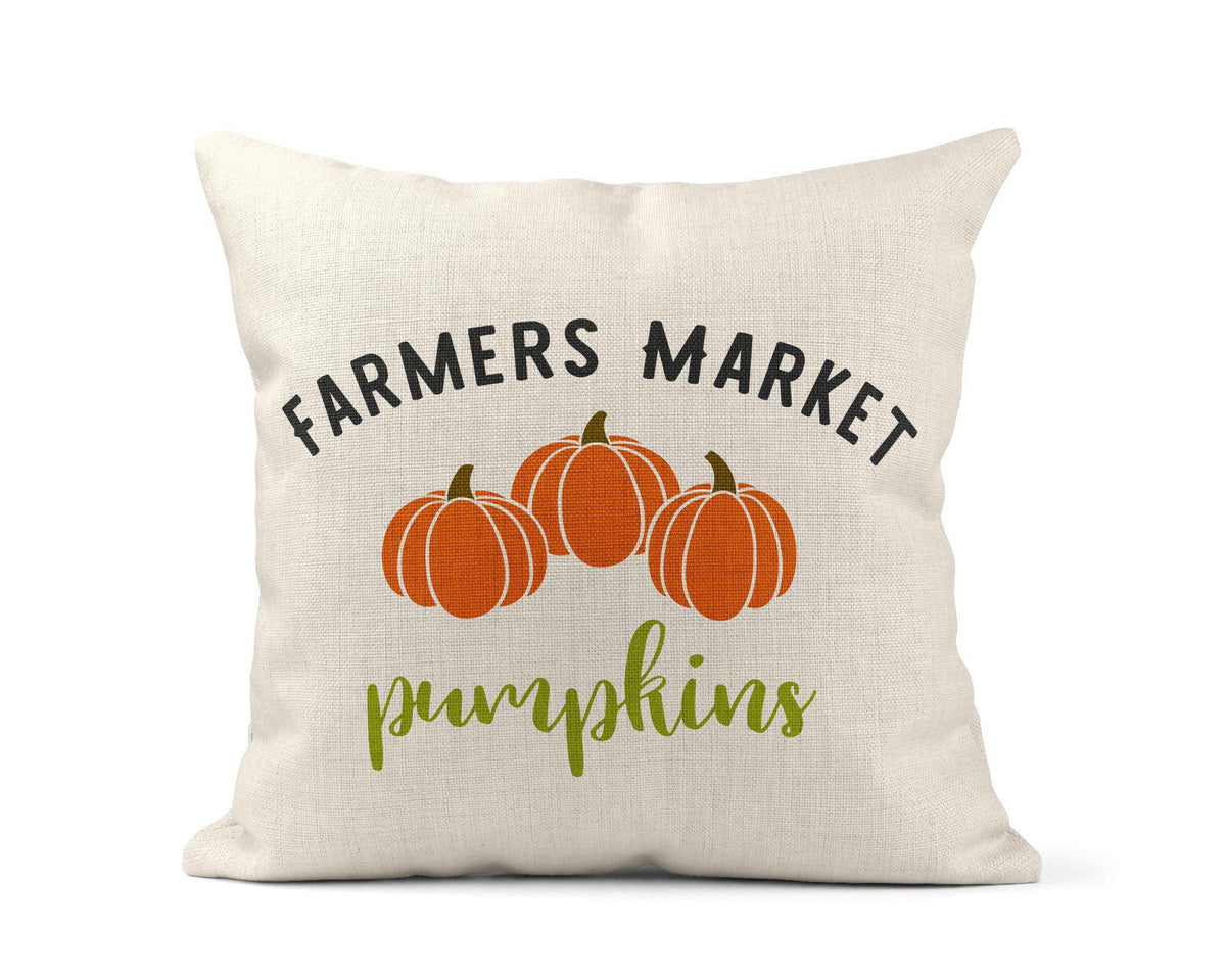 Farmers Market Pumpkins Throw Pillow-Home Decor-Maddie & Co.
