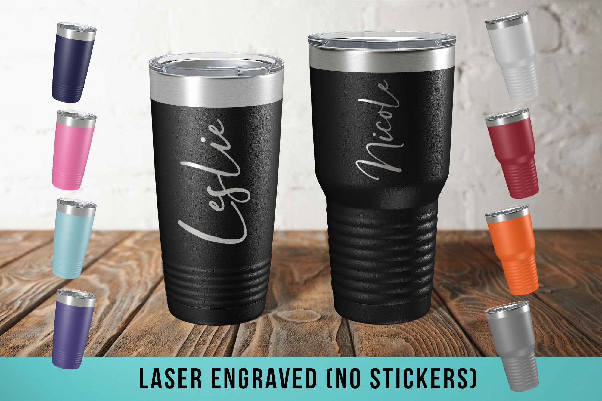 Personalized Custom Laser Etched Tumbler-Tumblers + Water Bottles-Maddie & Co.