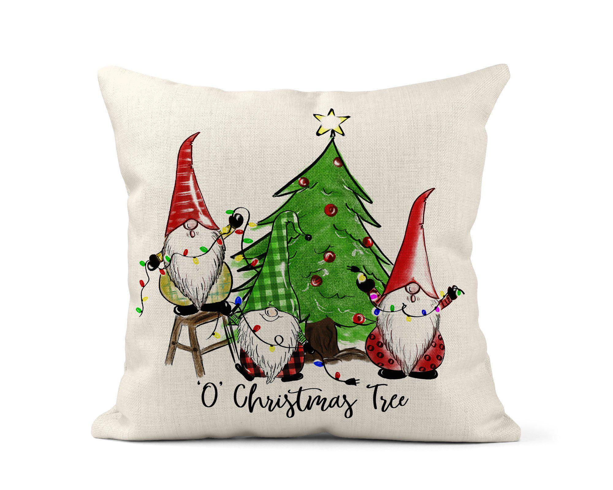 Christmas Gnome Throw Pillow-Home Decor-Maddie & Co.