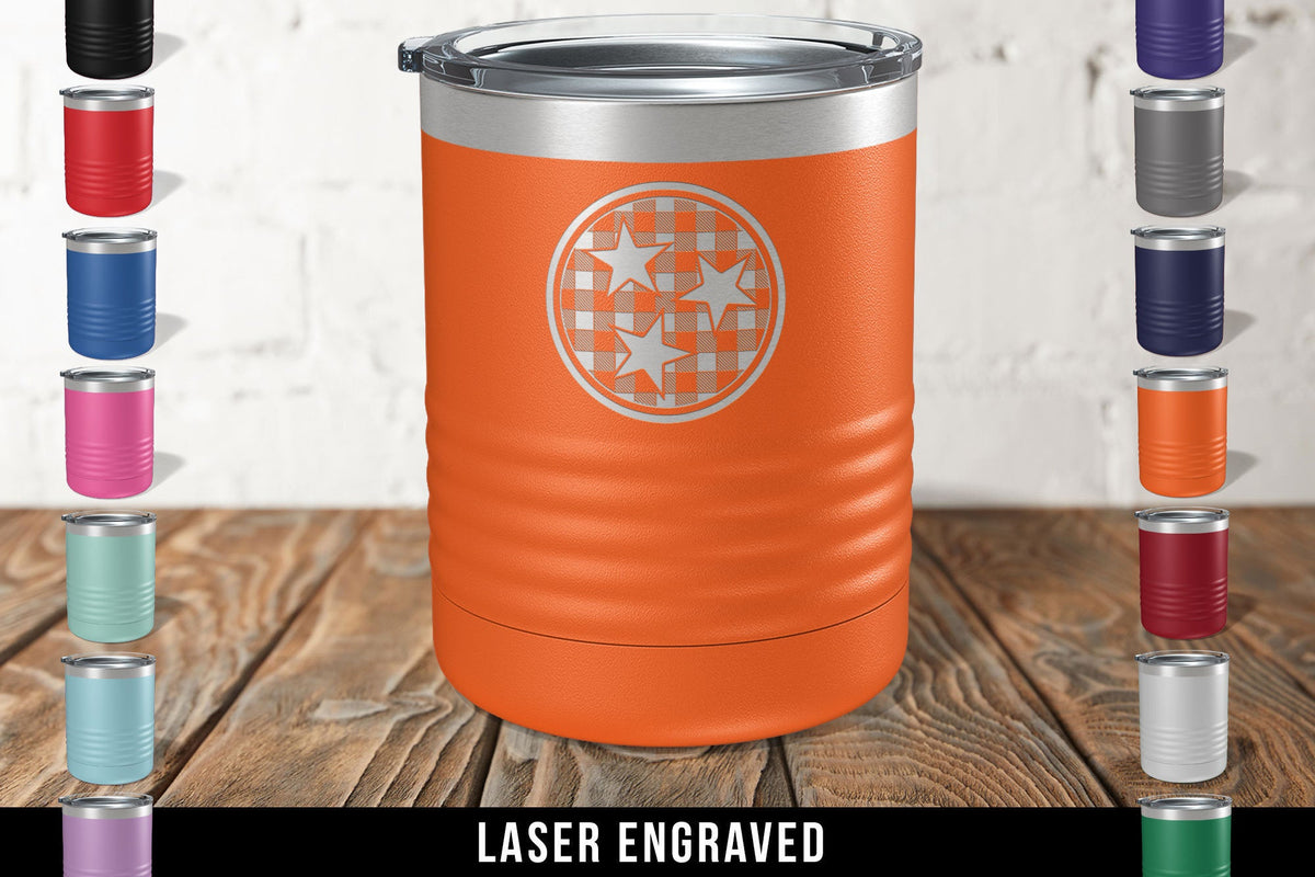 Tennessee Stars Engraved Tumbler-Tumblers + Water Bottles-Maddie & Co.