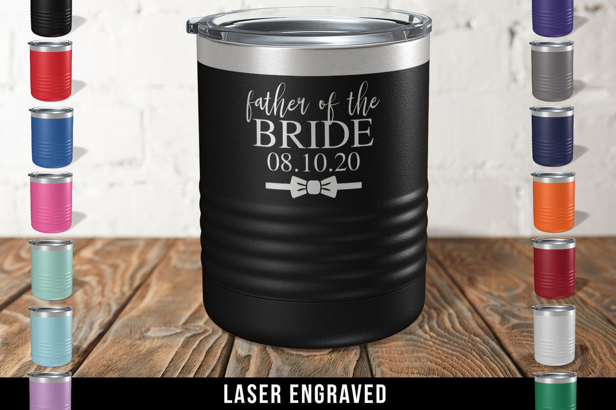 Father of the Groom Engraved Tumbler-Tumblers + Water Bottles-Maddie & Co.