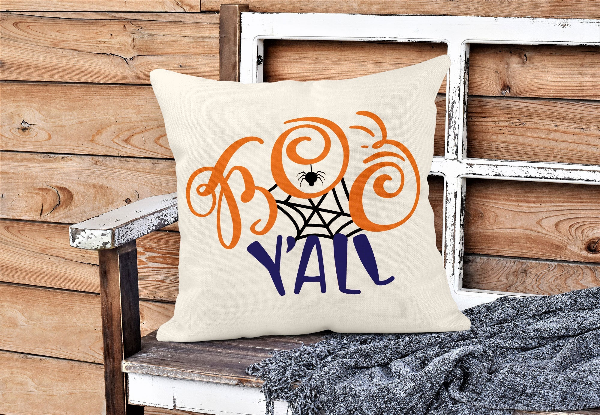 Boo Y'all Throw Pillow-Home Decor-Maddie & Co.