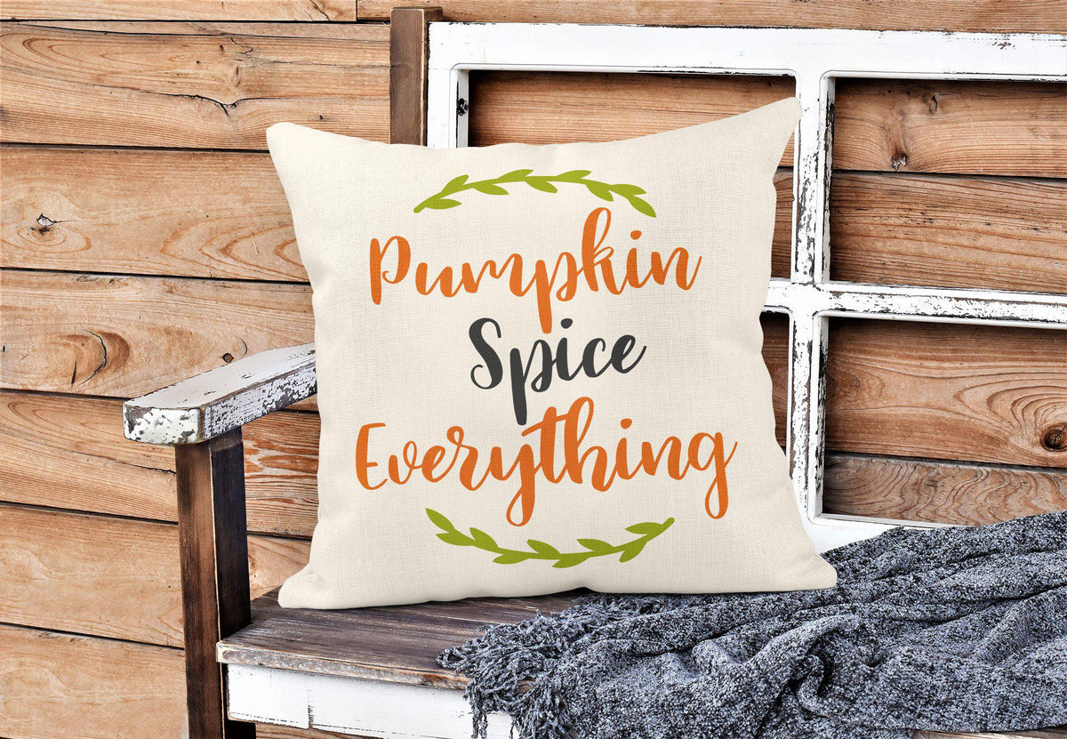 Pumpkin Spice Throw Pillow-Home Decor-Maddie & Co.