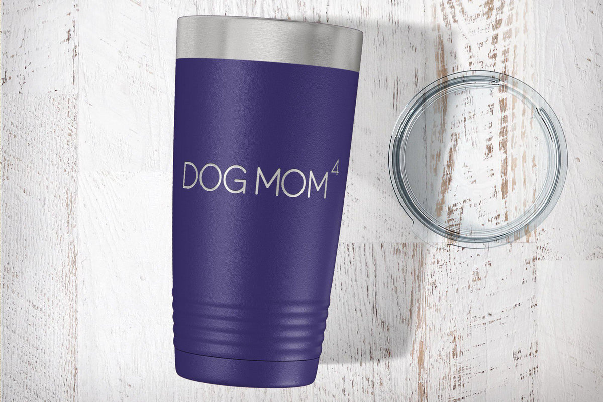 Dog Mom Laser Etched Tumbler-Tumblers + Water Bottles-Maddie & Co.