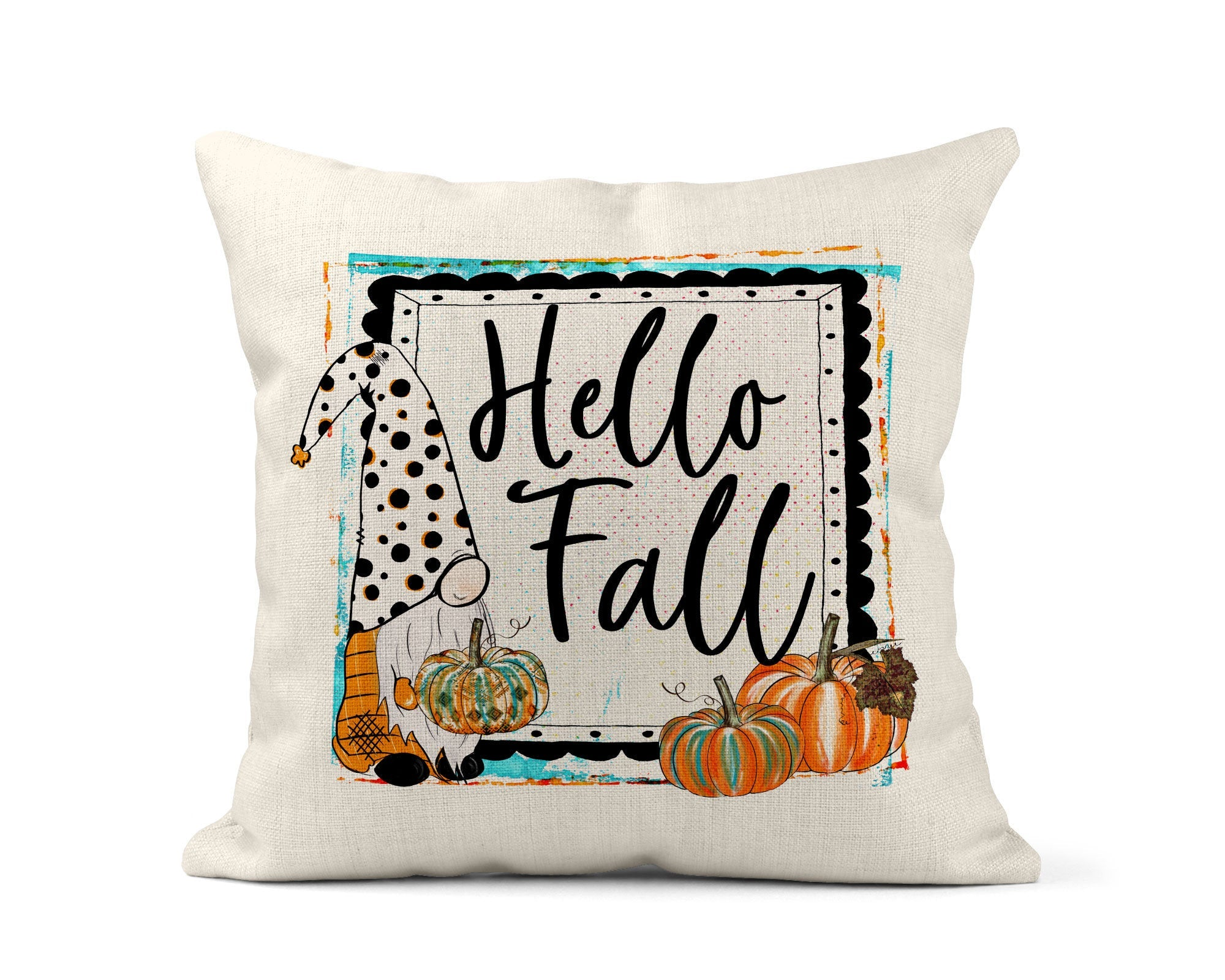 Happy Fall Gnome Throw Pillow-Home Decor-Maddie & Co.