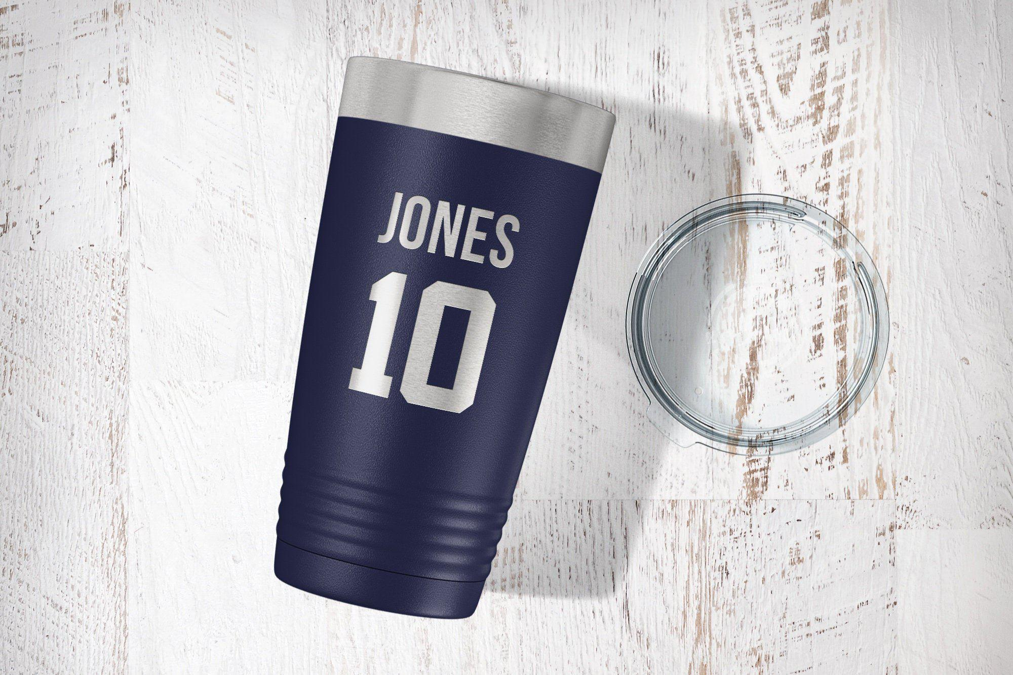 Custom Jersey Number 30 OZ Tumbler-Tumblers + Water Bottles-Maddie & Co.