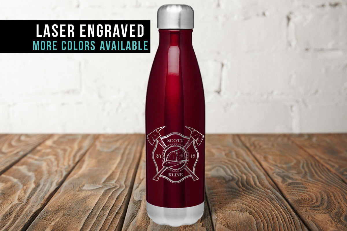 Firefighter Personalized Water Bottle-Tumblers + Water Bottles-Maddie & Co.