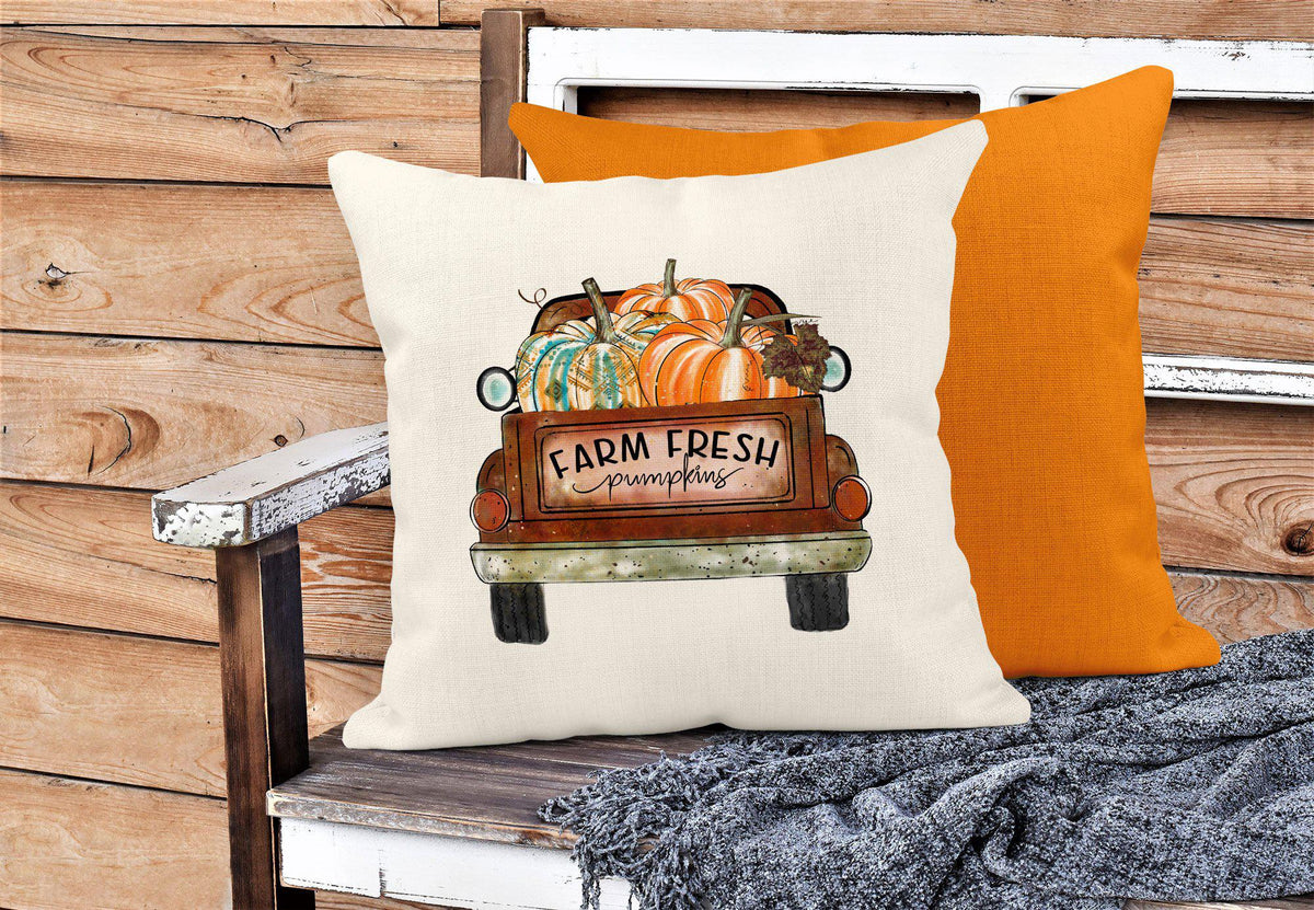 Fall Truck Throw Pillow-Home Decor-Maddie & Co.