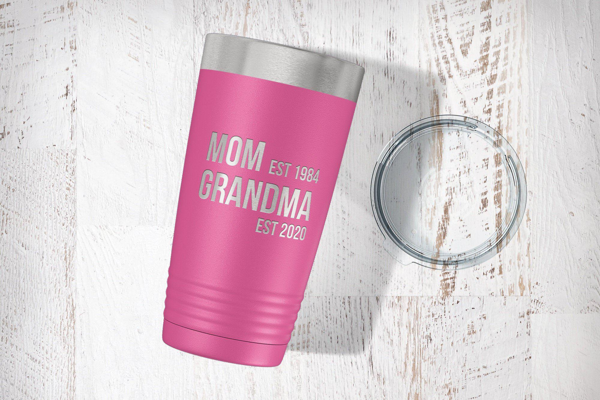 Baby Announcement Grandparent Tumbler-Tumblers + Water Bottles-Maddie & Co.