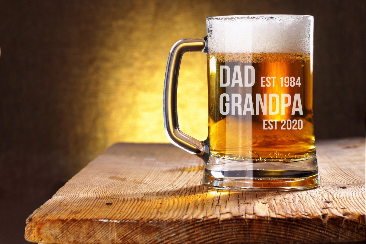 Pregnancy Announcement Grandparents Beer Mug-Beer Mugs-Maddie & Co.