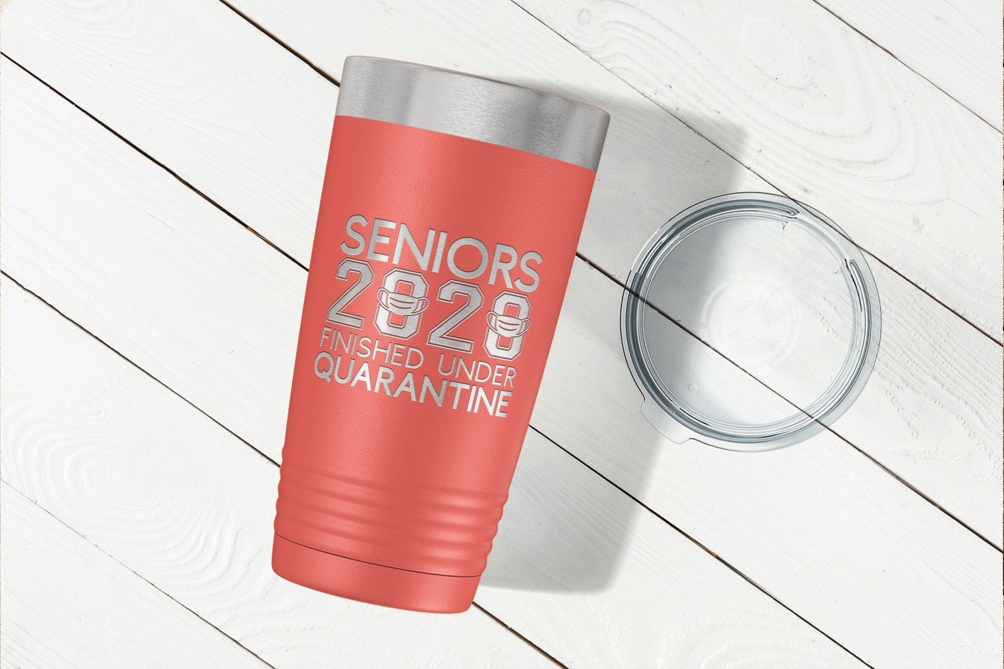 Seniors 2020 Tumbler - Finished Under Quarantine-Tumblers + Water Bottles-Maddie & Co.