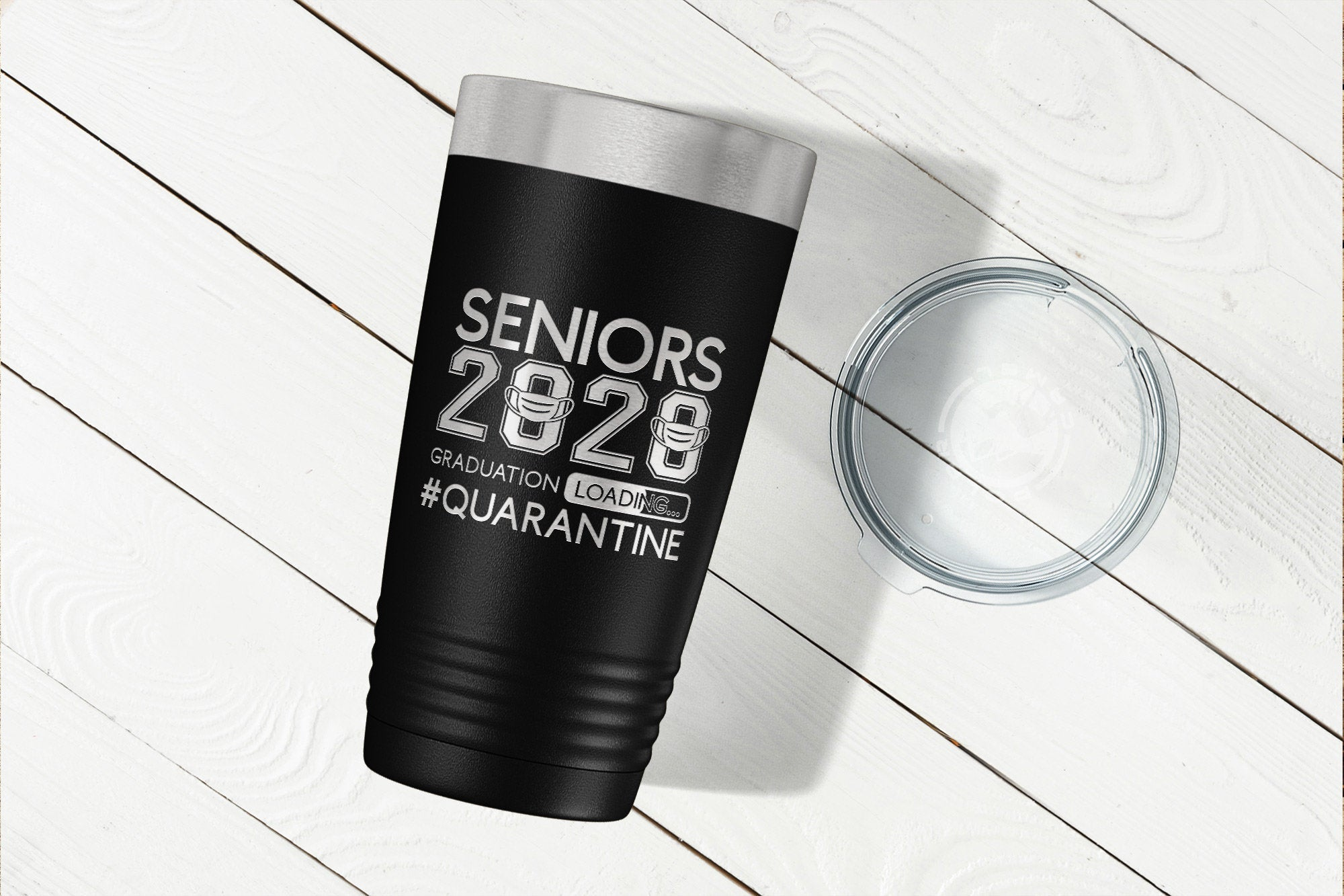Senior 2020 Tumbler - Graduation Loading #Quarantine-Tumblers + Water Bottles-Maddie & Co.
