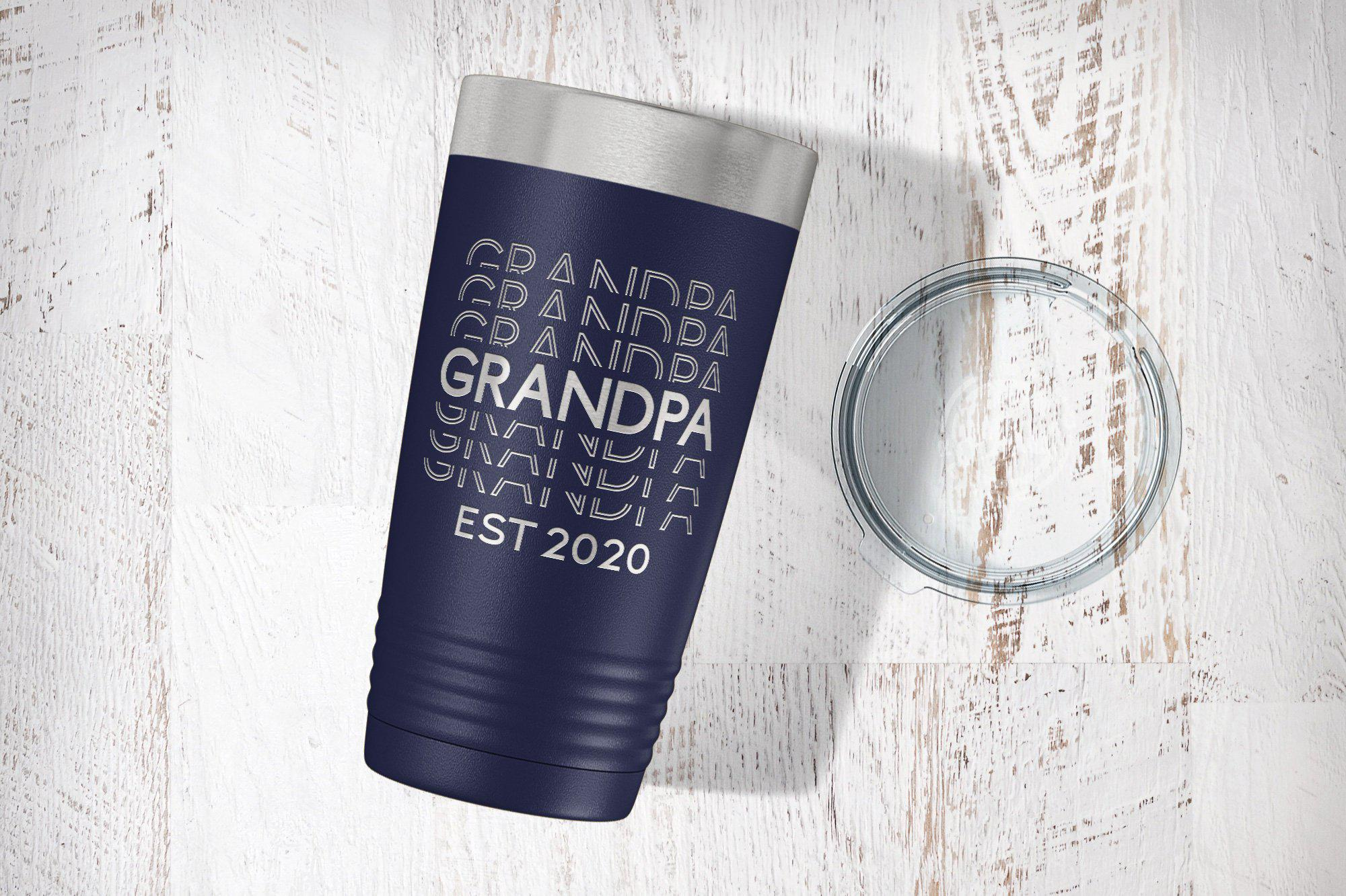 Grandpa Baby Announcement Tumbler-Tumblers + Water Bottles-Maddie & Co.
