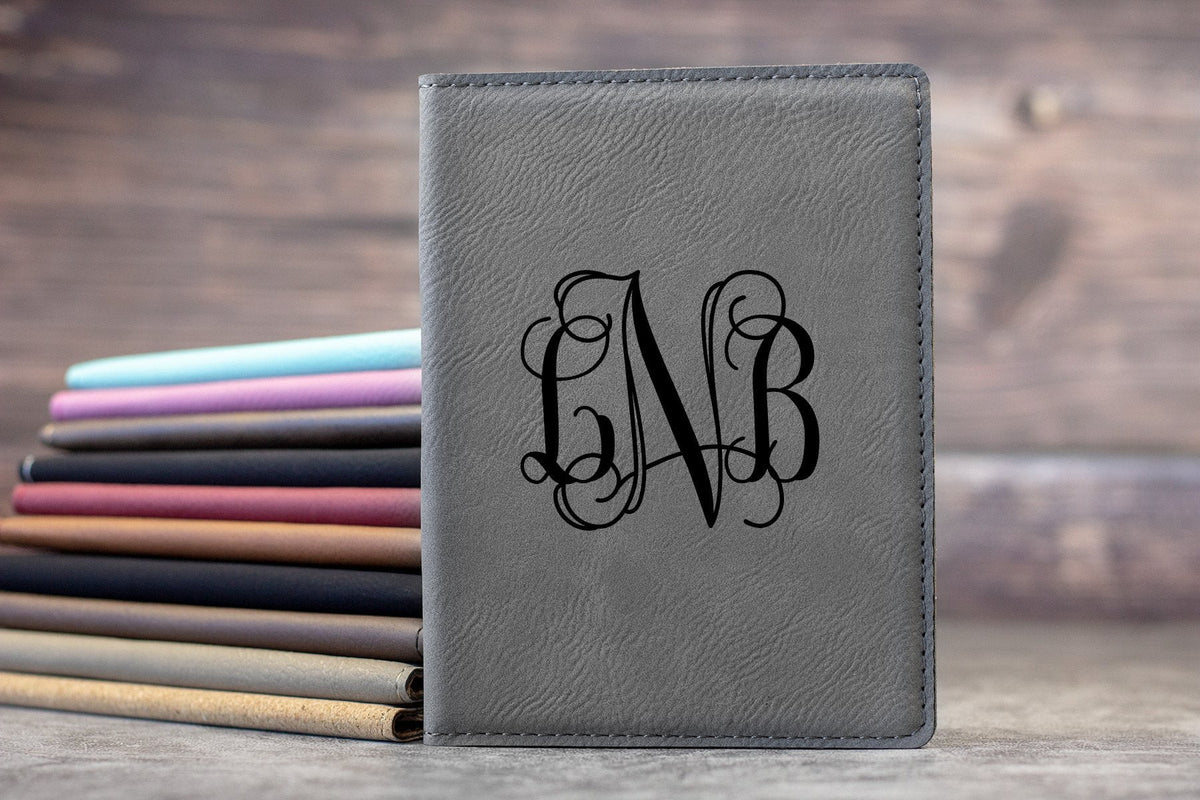 Monogrammed Vine Passport Cover-Maddie & Co.