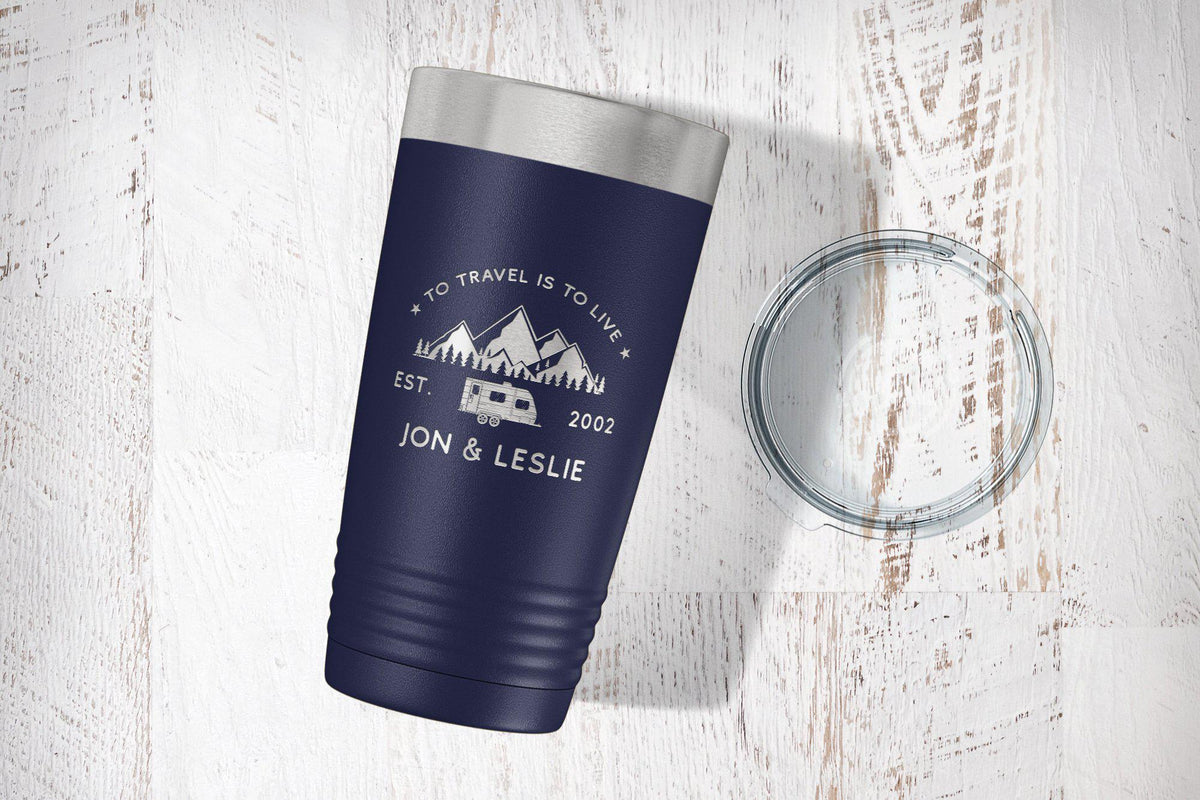 Personalized Campfire Mug-Tumblers + Water Bottles-Maddie & Co.