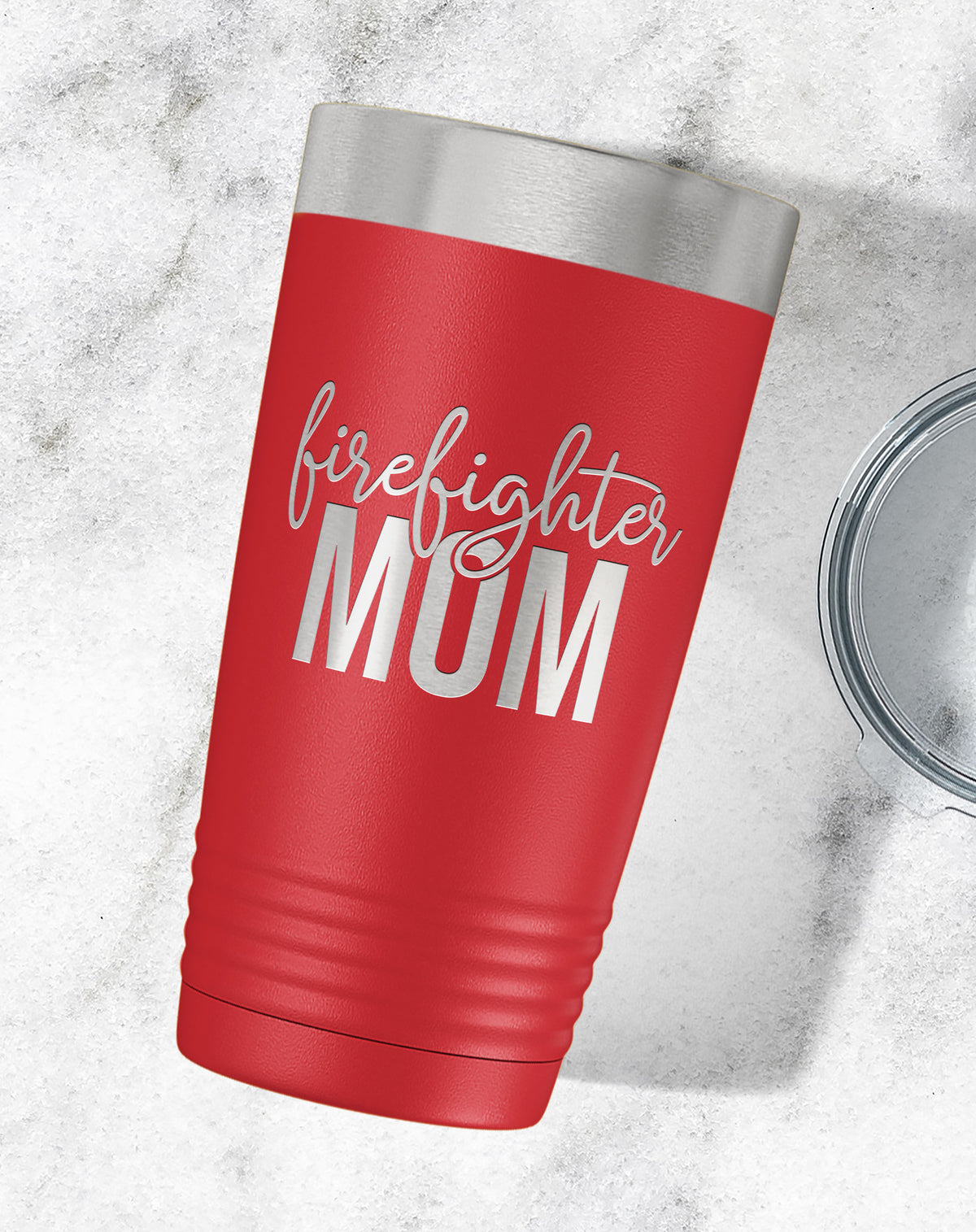Firefighter Mom Engraved Tumbler-Tumblers + Water Bottles-Maddie & Co.