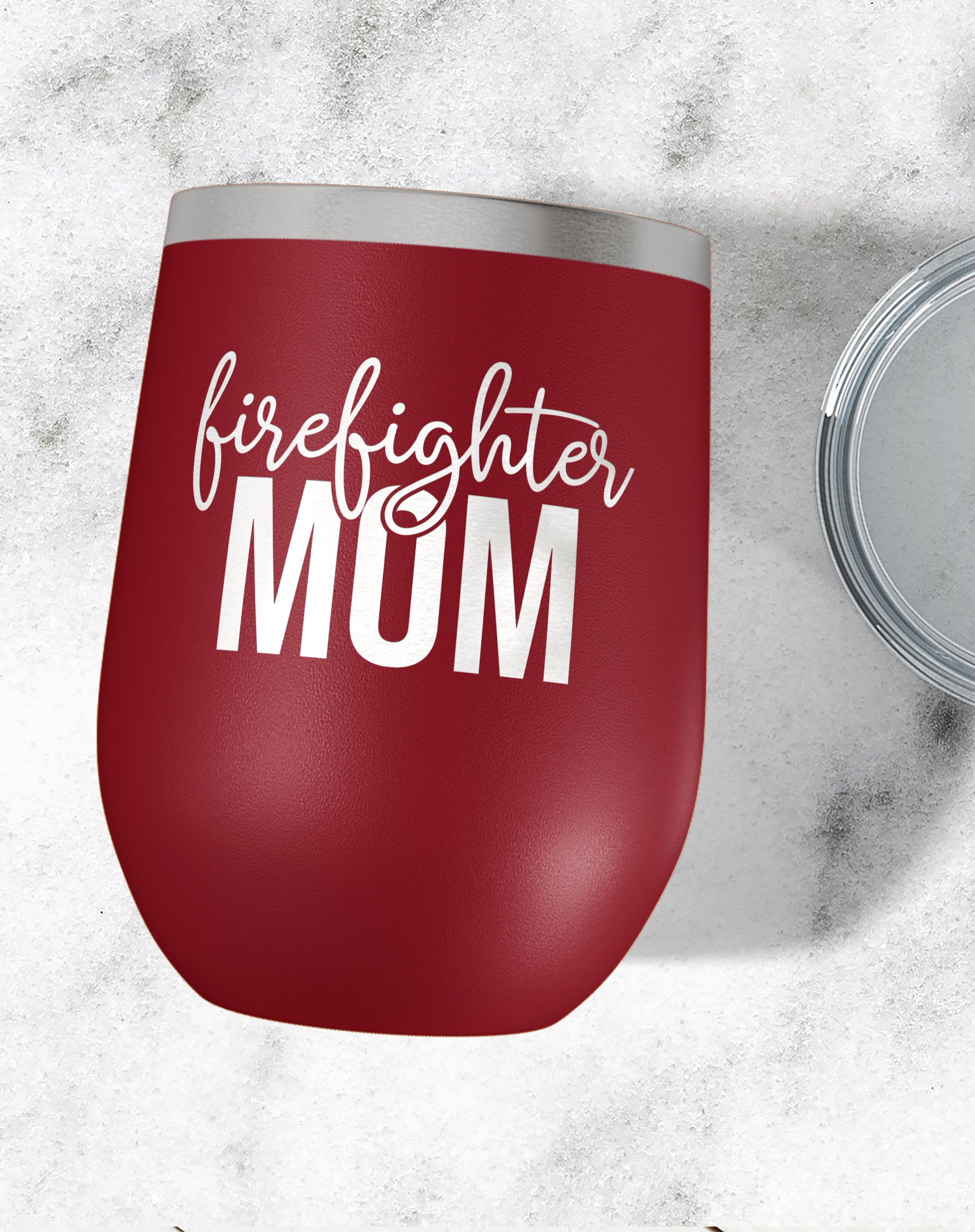 Firefighter Mom Wine Tumbler-Wine Tumblers-Maddie & Co.