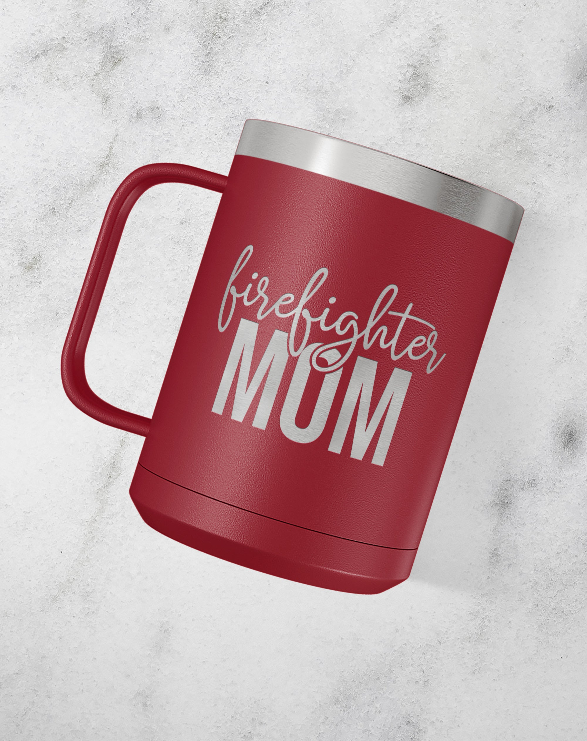 Firefighter Mom Stainless Steel Coffee Mug-Coffee Mugs-Maddie & Co.