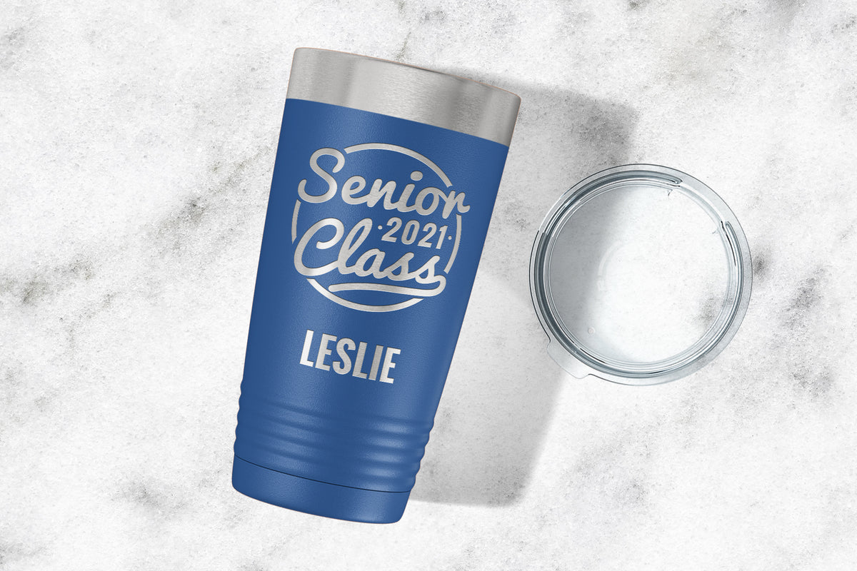 Senior Class of 2021 Engraved Tumbler-Tumblers + Water Bottles-Maddie & Co.