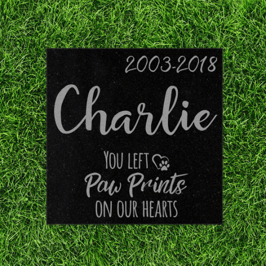 Custom Granite Pet Memorial Stone- PM3-Pet Memorials-Maddie & Co.