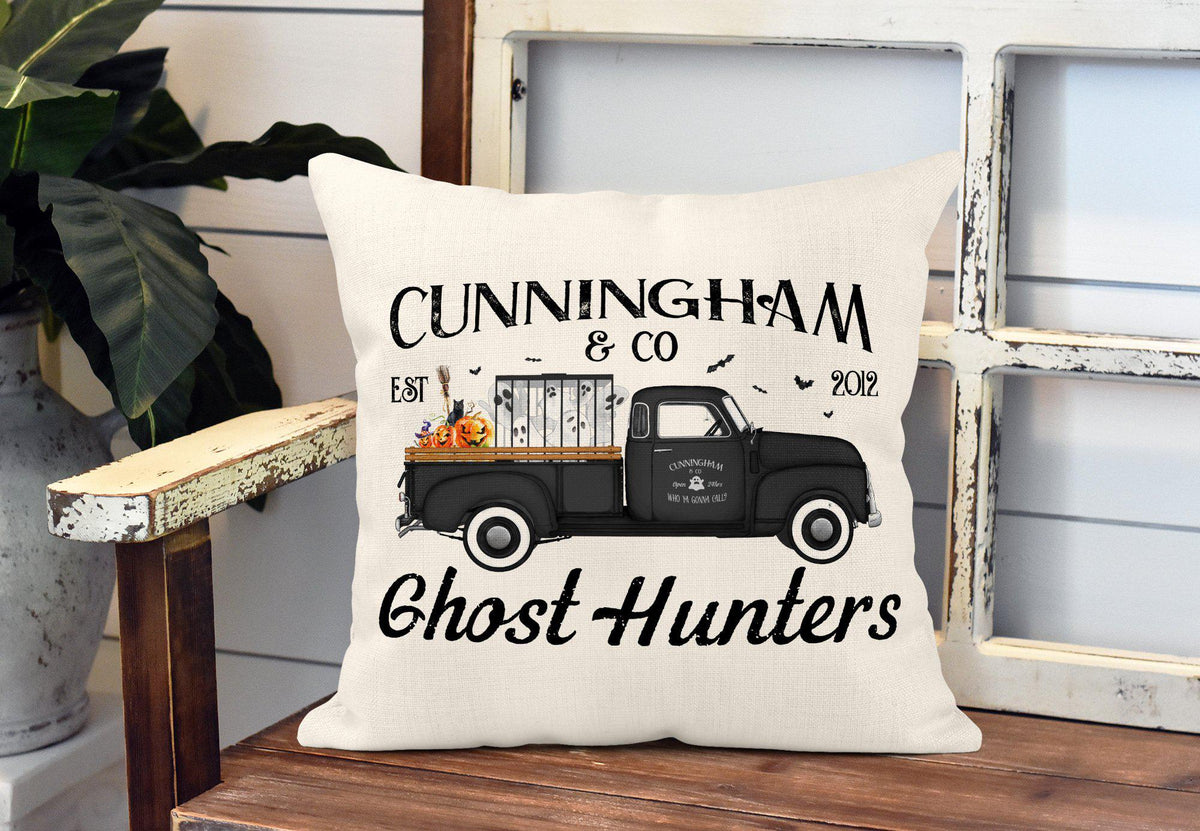 Halloween Ghost Hunters Throw Pillow-Home Decor-Maddie & Co.