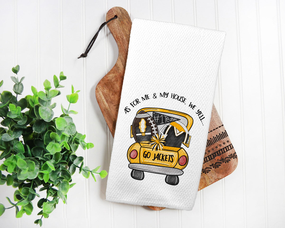 Yellow Jackets Tea Towel-Maddie & Co.