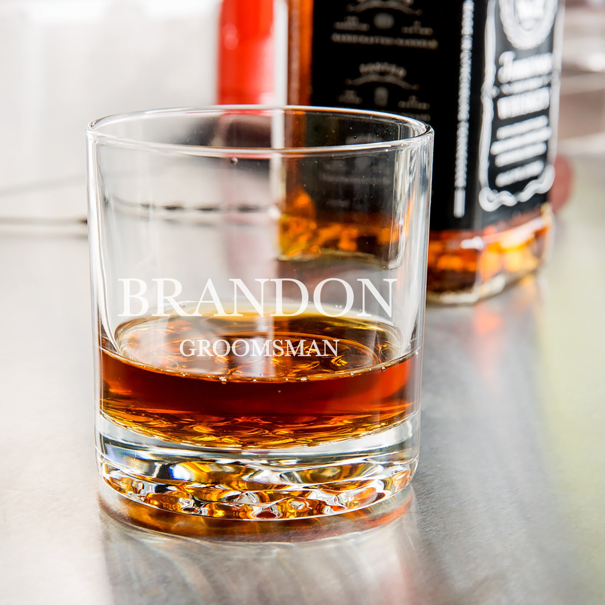 Groomsman Whiskey Glass-Maddie & Co.