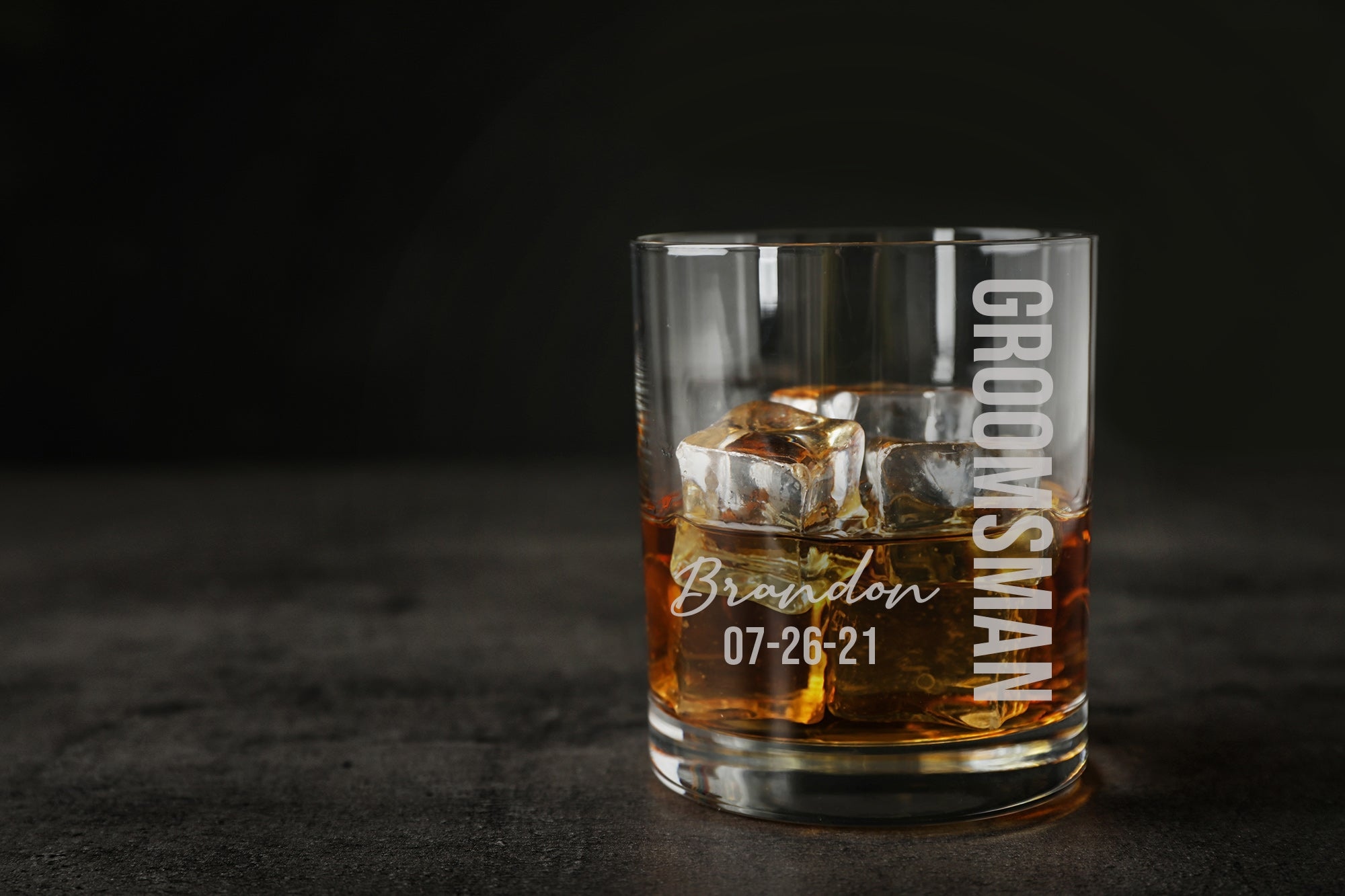 Personalized Groomsman Whiskey Glass-Maddie & Co.