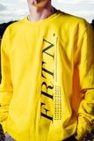 FRTN Yellow Sweatshirt w/ Embroidered SCENE 2 Sleeve