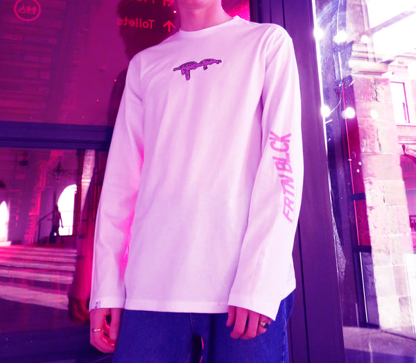 Long Sleeve FRTN BLCK Embroidered Eye Tee