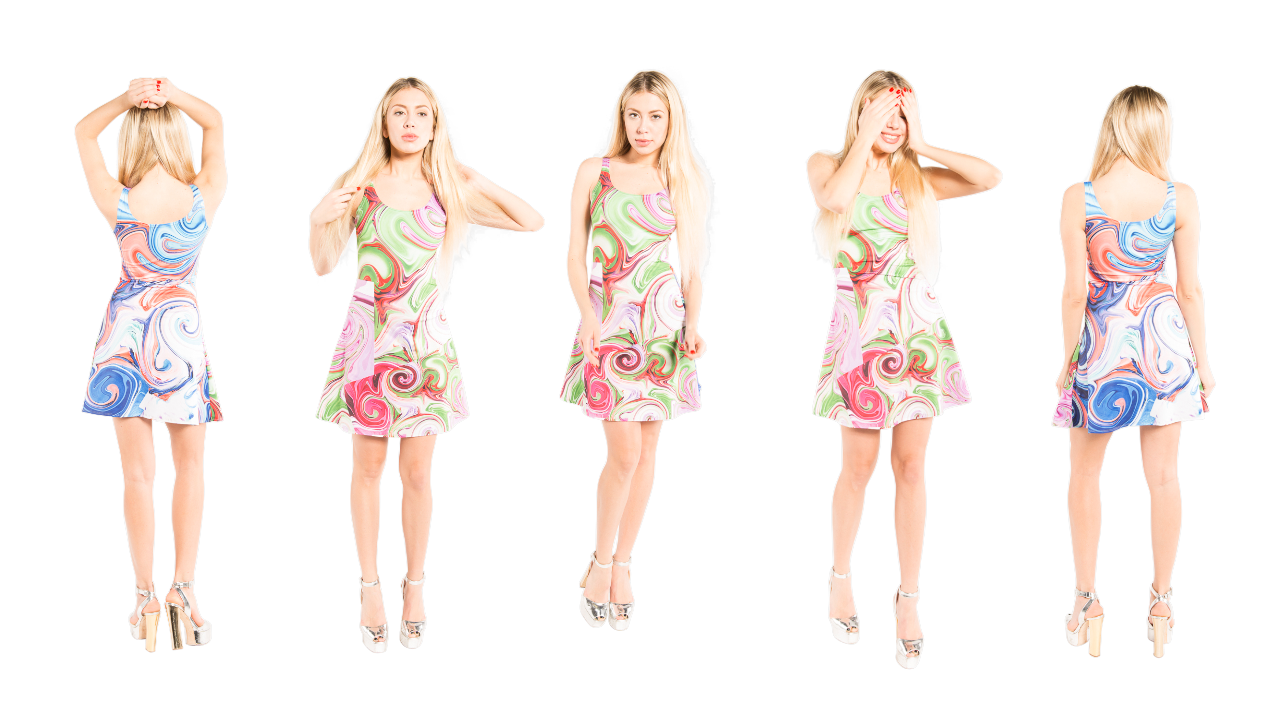 J'aime has many different colored flare dresses that you can wear for different occasions.