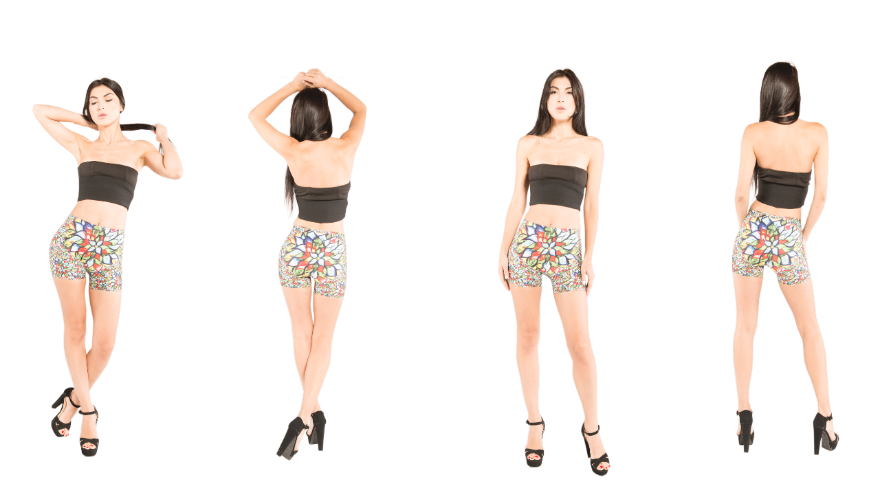 Floral designer shorts that can be worn to workout in or dress up for a night out.