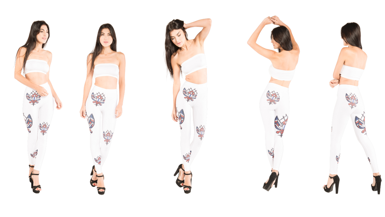 Phoenix rising from the ashes inspired designer leggings that can be worn with many J'aime products