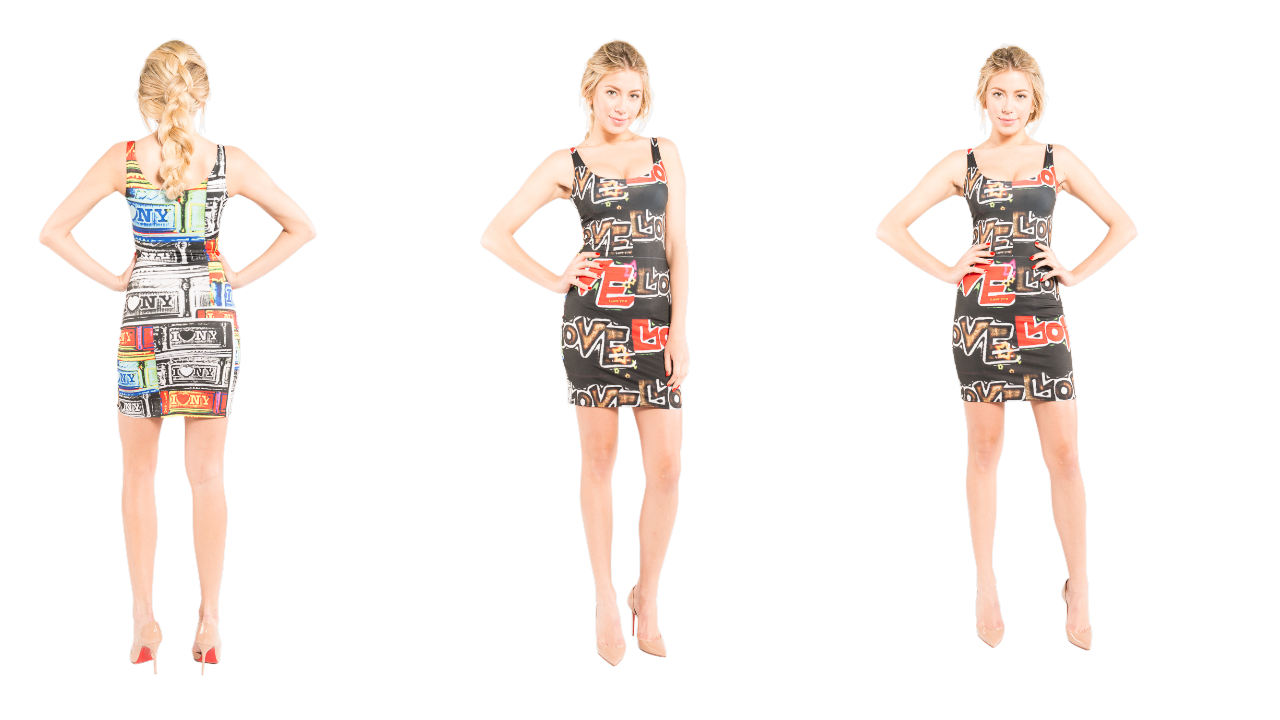NYC inspired bodycon designer dress that you can match with other J'aime products.