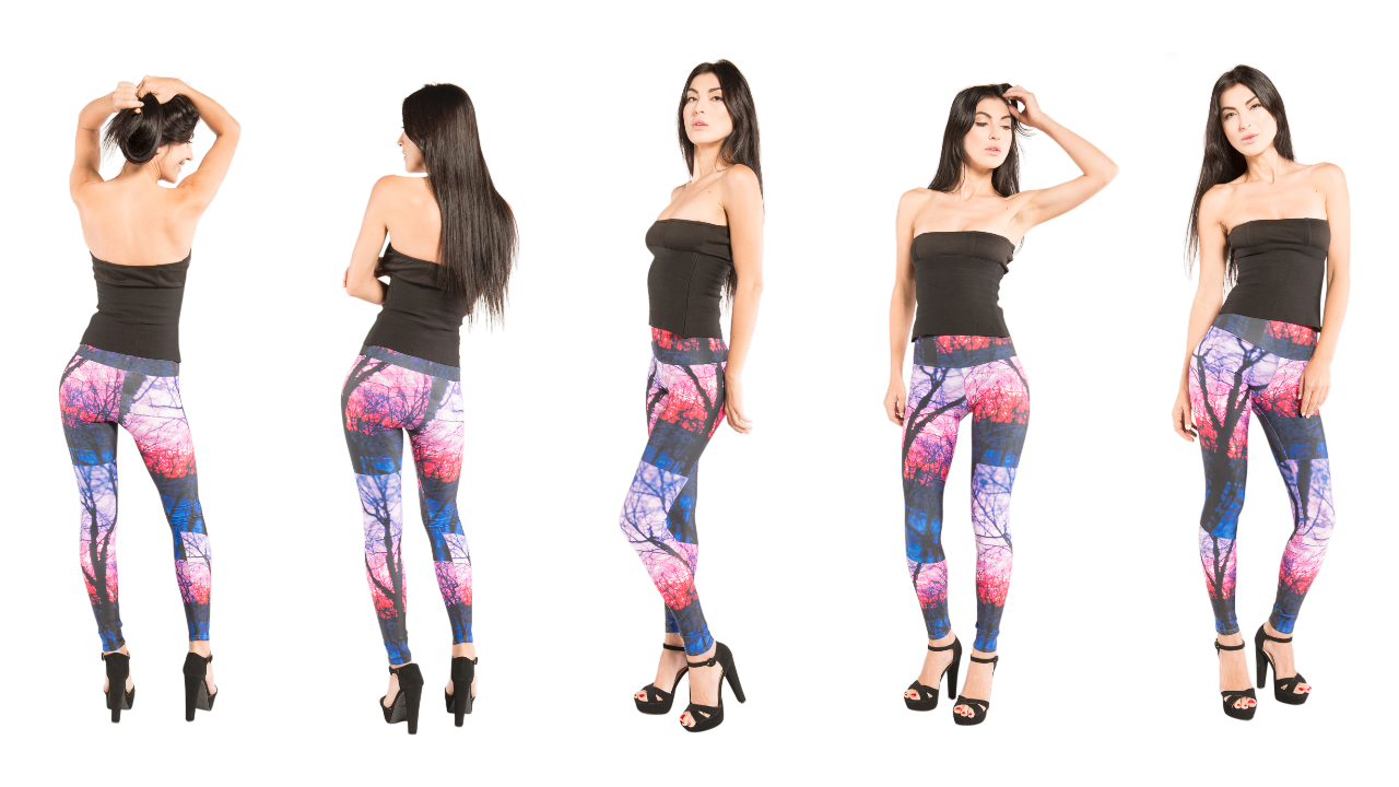 Vibrant artistic designer leggings that you can wear to the gym or dress up for a night out.