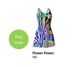 Vibrant colorful dress that you can wear during your next music festival or concert.