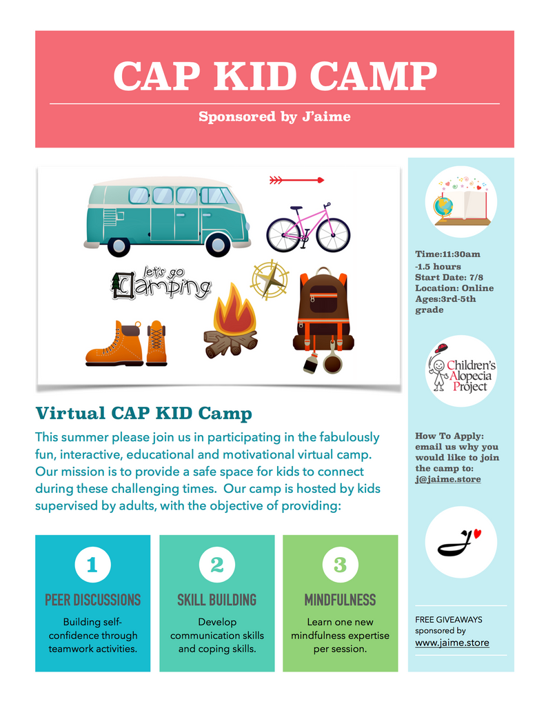 Please join us July 8th for this Virtual CAP Kid Camp
