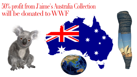 50% of profits of J'aime's Australia collection will be donated to WWF Australia in efforts to help end the wildfires.