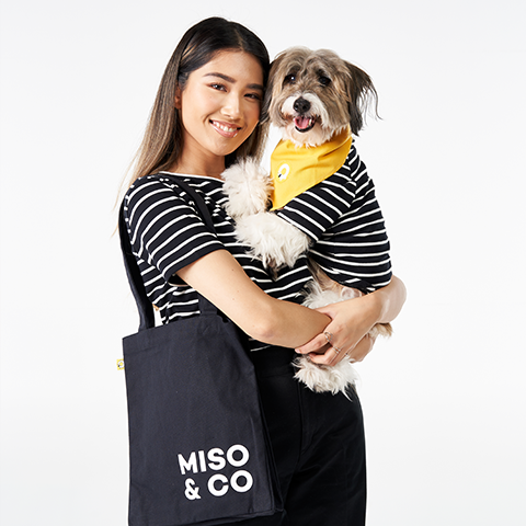 MISO & CO matching t-shirts for owners and their dogs